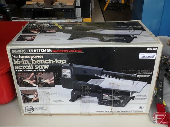 Sears/Craftsman 16in Bench Top scroll saw, direct drive, New in box