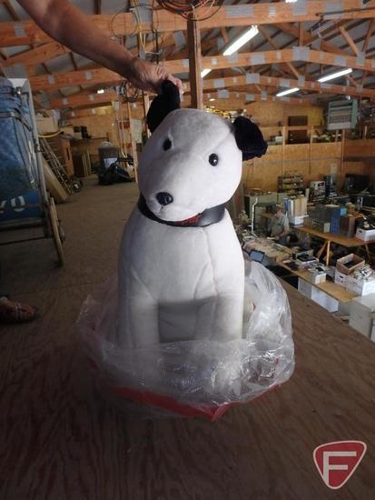 RCA Mascot promotional stuffed dog, new