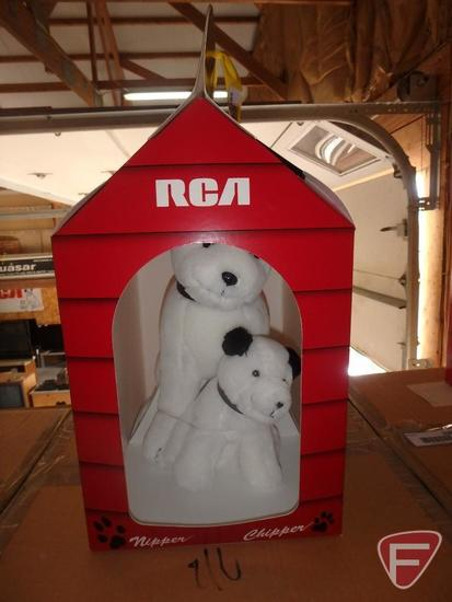 RCA Promotional Chipper and Nipper in carry doghouse, new in box
