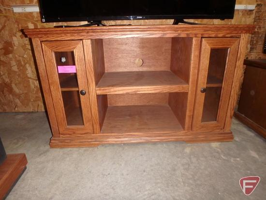 "Wood TV stand, 43.5""X17.5""X26""H"