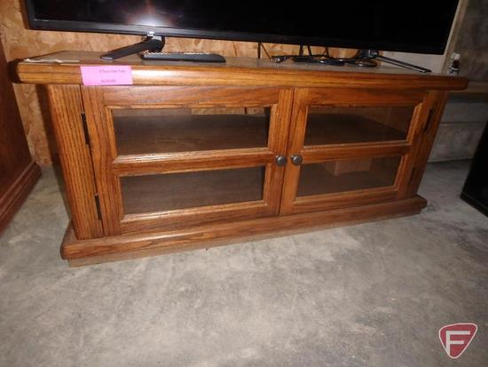 "Wood TV stand, 44""X16.5""X18"""