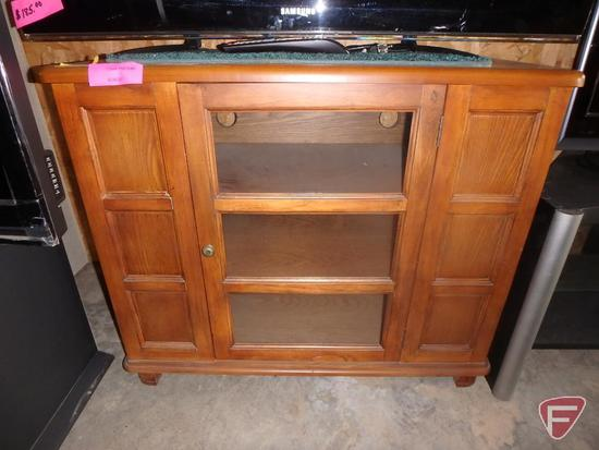 "Wood TV stand, 37""X18""X30.5""H"