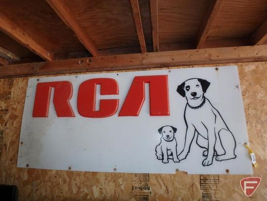 "RCA translite for lighted sign, 67.5""X29.5"""