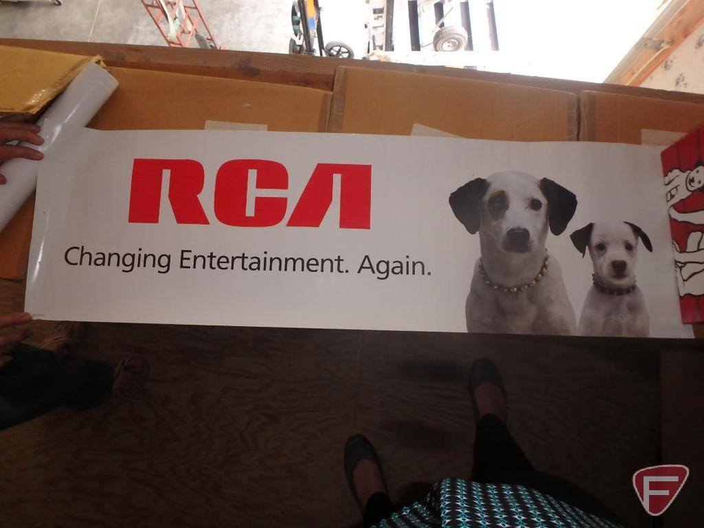 RCA Promotional basketball, poster, and keychain