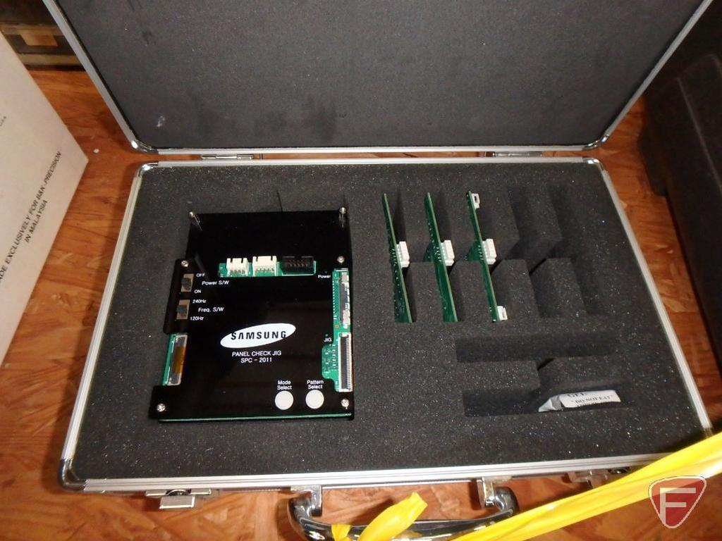 Modern TV repair equipment: LG OLED TV tester, LED backlight tester and capacitor wizard,