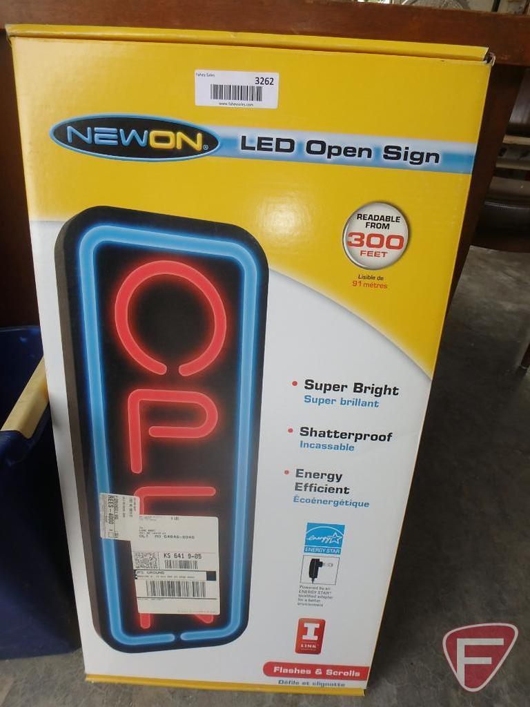 "NewOn LED ""OPEN"" sign"
