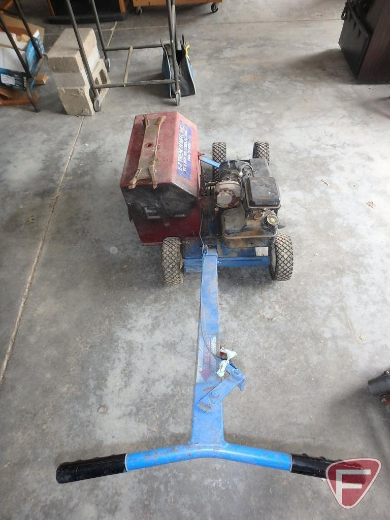 E-Z Trench Mfg, Inc. shallow trencher with Briggs & Stratton 5hp gas engine, pull start