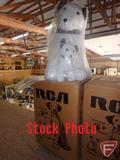 RCA Mascot promotional stuffed dog, 2-piece set, new-in-box