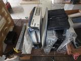 Antennal amplifier, Voom dish and receiver, VCR, DVD player