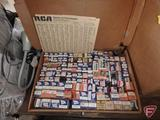 Assortment of new old stock vacuum tubes and tube tester