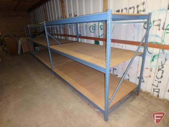 Pallet racking, (4) 6ft uprights, (12) 8ft cross bars, (6) 4ft cross bars