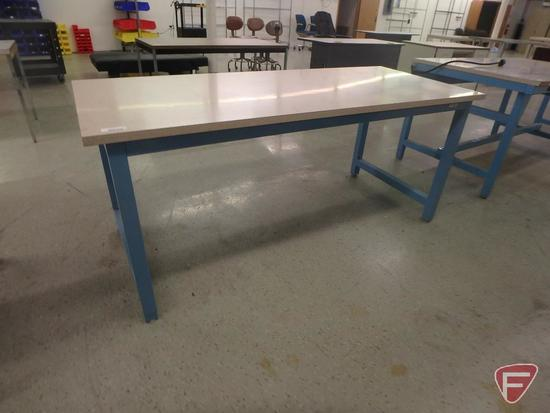 Workplace modular workstation, formica top, 72x30x31in