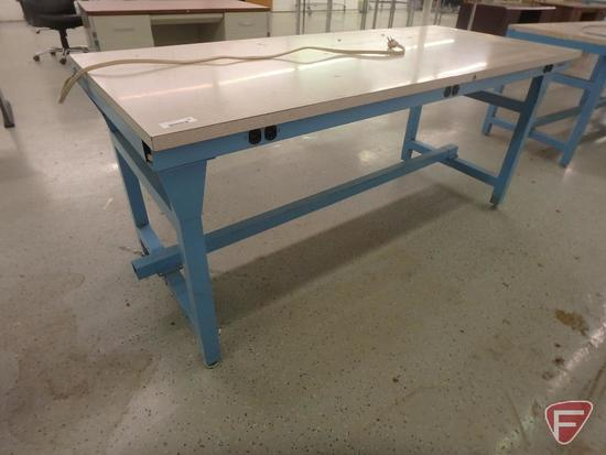 Workplace modular workstation, formica top, 72x30x32in