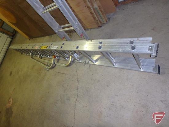 Keller 3224 24ft type 3 aluminum extension ladder