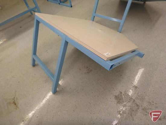 Workplace modular corner workstation, formica top, 48x48x34in