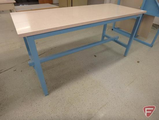 Workplace modular workstation, formica top, 72x30x34in