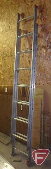 All American 16ft aluminum extension ladder