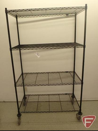 Nexel adjustable wire rack on casters, 47x24x79in
