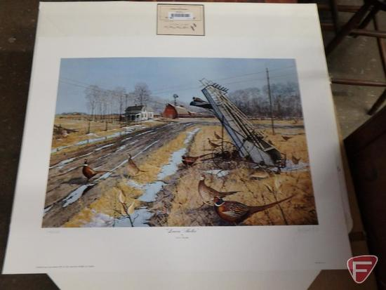 (2) 23inx29in unframed prints by Les Kouba, Leavin Shelter 3155/5000 and 3154/5000. Both