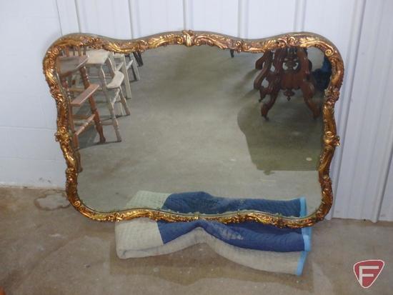 Mirror in ornate frame, 40inx52in
