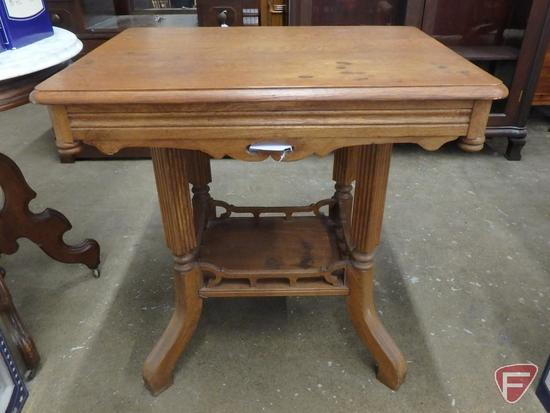 Wood occasional table, 29inHx21inx29in