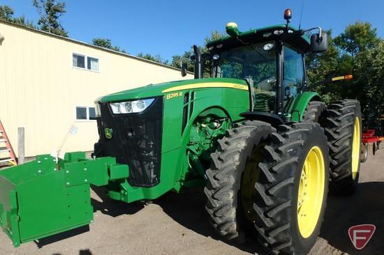 2016 John Deere 8295R front wheel assist 295HP tractor, 1075 hours