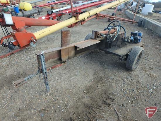 "Homemade heavy duty hydraulic log splitter, 25"" opening, 208cc gas engine"