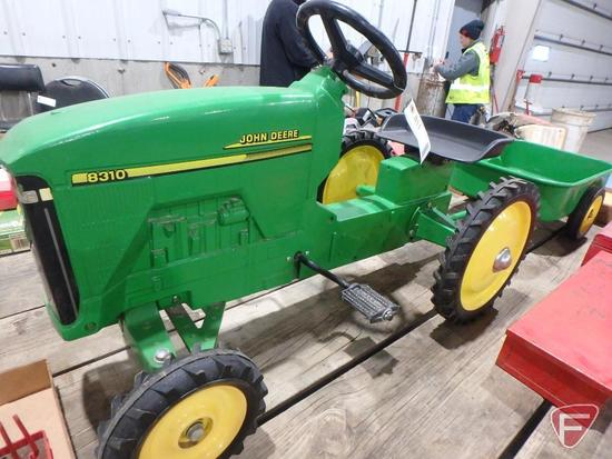 John Deere 8310 pedal tractor with wagon