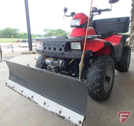 2000 Polaris Sportsman 500 4x4 ATV with poly cargo box, SN: 4xach50a9ya313878, 2,465 miles showing