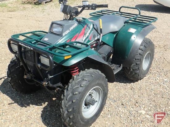 1998 Polaris Magnum 4x4 ATV with 5 ft. snow plow blade