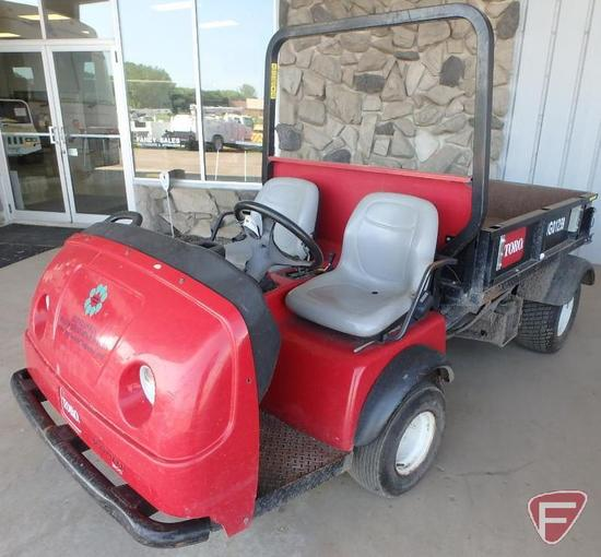 Toro Workman utility vehicle with gas Kohler Command 2.3 engine, 2,709 hrs showing
