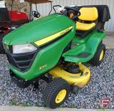 John Deere X310 riding lawn mower with power steering, John Deere 42