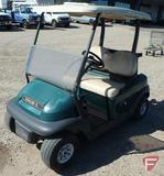 2014 Club Car Precedent green electric golf car with roof, folding windshield, ball washer