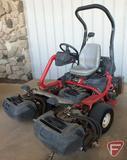 2011 Toro 3300 Triflex 3-gang reel mower, ROPS, lights, grass baskets, 1627 hrs