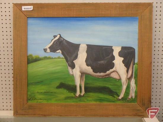 Barnwood framed original oil painting by Jeanne Tuman, 29inHx35inW