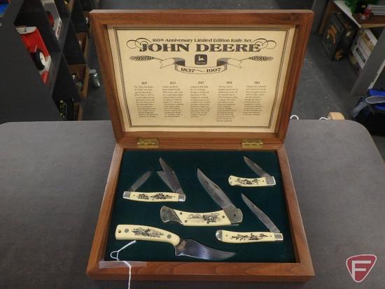 160th Anniversary John Deere Limited Edition Knife Set in wood display box