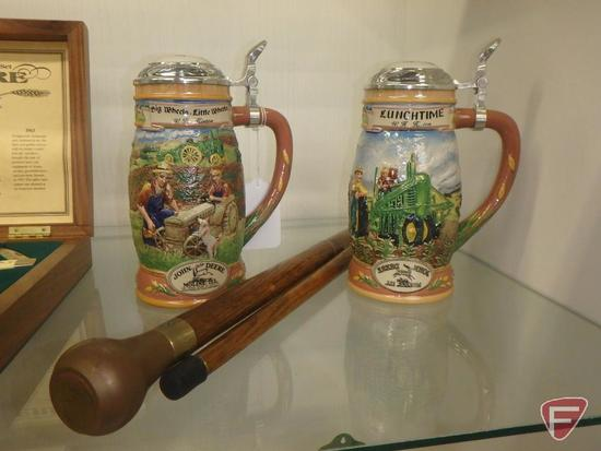 John Deere Lunchtime by W H Hinton covered stein with reversed logo,