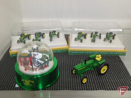 The John Deere Dubuque Works Historical Tractors Set 1 and 2, 1:64, John Deere 4010 replica,