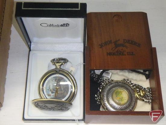 John Deere pocket watch by Colibri of London, 3rd in a limited edition series, 238/500, and