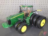 Replica John Deere 8520 tractor with front duals and back tri wheels, diecast/plastic