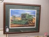 Framed and matted print by RL Crouse, Harvester Heritage, 789/2200, 25inHx32inW