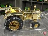 Ertl replica John Deere 4020 diesel tractor, gold colored, Expo Houston 2008,