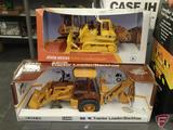 Ertl replica John Deere 850C Crawler Dozer 1:50 and Case 580K Tractor Loader/Backhoe 1:32