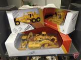 Ertl replicas John Deere 550G Crawler Dozer 1:64, John Deere Industrial Grader 1:64, and