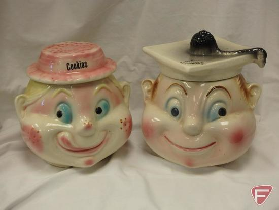 (2)Cookie Jars- For Smart Cookies and Cookies