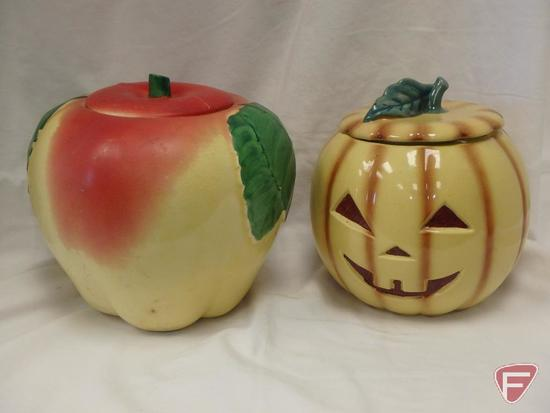 (2)Cookie Jars- Apple and Abingdon pumpkin