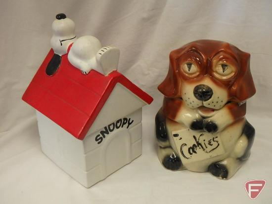 (2)Cookie Jars- Snoopy and McCoy dog