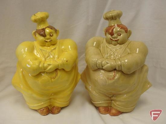 (2)Cookie Jars- Redwing chefs