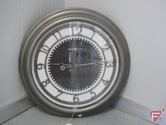 "Howard Miller 25"" dia. wall clock model 625-526"