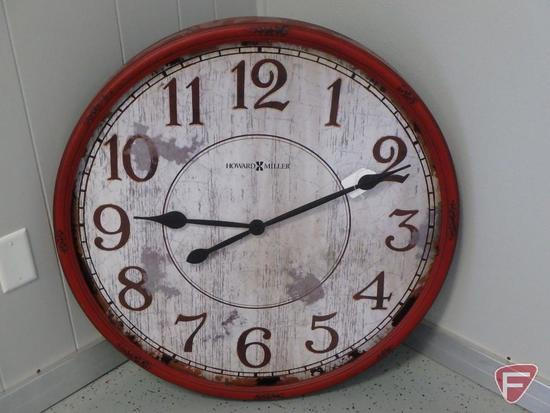 "Howard Miller 32"" dia. wall clock model 625-598"